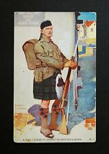 1917 WW1 Postcard Scottish Soldier Rifle Fixed Bayonet Sefton St Southport PR8