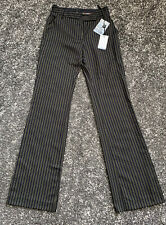 BNWT Paul Smith Black Label Womens Striped Woven Wool Trousers Size 38 UK6 Small