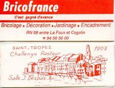 CARNET PRIVE FRANCE MARIANNE DE BRIAT / BRICOFRANCE SAINT TROPEZ