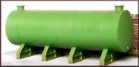 Knightwing PM117 OO Gauge Single Diesel Tank w Supports Plastic Kit