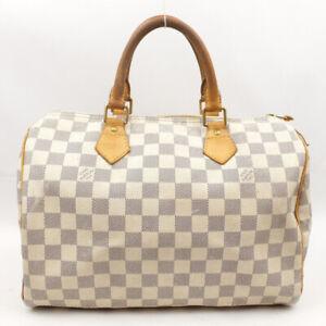 LOUIS VUITTON Speedy 30 Boston Bag Handbag Damier Azul N41533