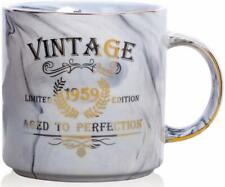 1959 60th Birthday Gifts for Women and Men Ceramic Mug Funny Vintage 1959 Aged