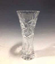 Vintage Heavy Cut Glass Bud Vase