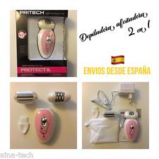 Depiladora afeitadora 2 en 1 Inalámbrica recargable 2 cabezales Pritech