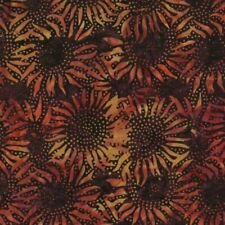 Hoffman Batik Bali Chops Sunflower 884-533 Nightshade Batik Cotton Fabric BTY