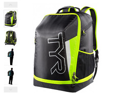 TYR Apex Backpack Transition Triathlon -Black/Yellow 40L Swimming Camping Hiking