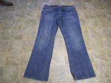 OLD NAVY Boot Cut Embroiderd Lo-Rise Destroyed Cotton Jeans 34X31 Women 8  #3592