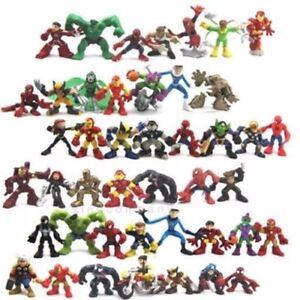 Random 5pcs Marvel Legends Super Hero Squad Spider-man Iron Man x-men Figure Toy