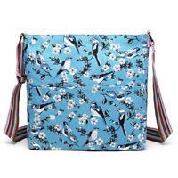 Ladies Birds Flower Handbag Satchel Girls School Bag Shopper Tote Shopper