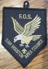 Vintage Boy Scout Patch F.O.S. Fos Sam Houston Area Council Golden Eagle