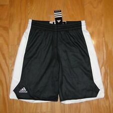 Adidas Reversible Crazy Explosive Shorts NWT Size M Youth White Black Drawstring