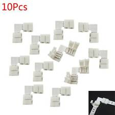 10Pcs L Shape LED Connector 4 pin solderless For 5050 RGB LED Strip Connectors