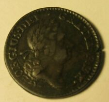 Us Colonial Coin: Woods Hibernia 1/2 Penny, 1723 F/Vf