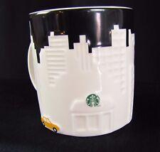 Starbucks New York City Coffee Mug Yellow Taxi New Bone China Relief Skyline EUC