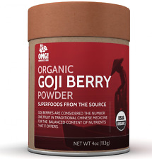 OMG! Superfoods Organic Goji Berry Powder - 100% Pure, USDA Certified Organic...