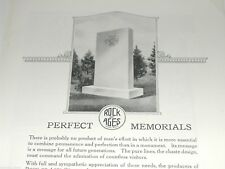 1920 Rock of Ages advertisement, Tombstone Headstone cemetery Grave marker