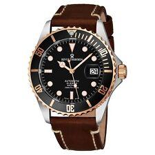 Revue Thommen Men's Diver Black Dial Light Leather Automatic Watch 17571.2557