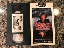 Warlock The Armageddon Vhs! 1993 Cult Horror! Rare Screener Copy!