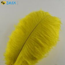 10pcs Ostrich Feathers 12-14inch 30-35cm for Home Wedding Decoration Yellow New
