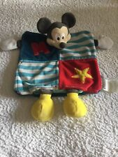 Disney Store Exclusive Baby Comforter Blankie Mickey Mouse plush Squeak Toy