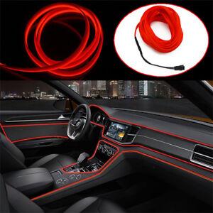 Car Interior Decorative Atmosphere Light Trim Lamp Strip Red Cold lights 12V