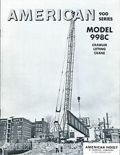 Equipment Brochure - American - 900 series Model 998C - Crane c1968 (E3487)