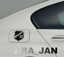 daBOSS Vinyl Decal Sticker Sport Racing car gas fuel tank emblem logo BLACK