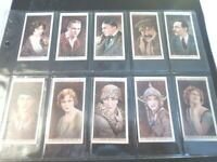 1928 Wills CINEMA STARS movie ser. 1 Tobacco Cigarette 25 cards complete set