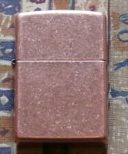 PLAIN REGULAR ANTIQUE COPPER ZIPPO LIGHTER FREE P&P FREE FLINTS