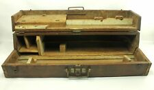 "Vintage or antique 35"" Carpenter Tool Solid Wood Trunk Chest Box"