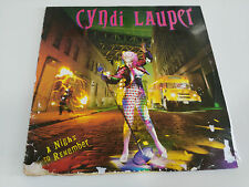 "CYNDI LAUPER A NIGHT TO REMEMBER LP 12"" VINYL 1992 G/VG SPANISH EDITION EPIC"