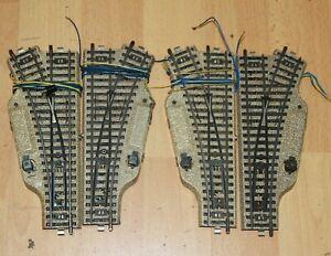 Märklin M-Gleise 5202 zwei el. Weichenpaare R2, (5203/5204) grosse W-Laterne