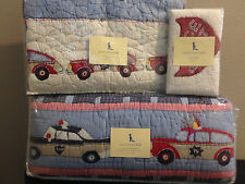 Brand New- Pottery Barn Police Car Crib Bedding Retired Print/ Hard to Find