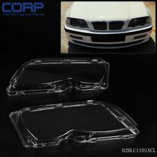 1 Pair L&R Headlight Headlamp Lense Lens Cover For BMW E46 3-series 4DR 02-05