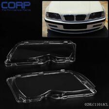1 Pair L&R Headlight Headlamp Lense Lens Cover For BMW E46 3-series 4DR 01-05