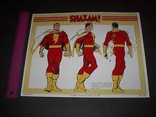 DC COMICS SHAZAM CAPTAIN MARVEL GARCIA LOPEZ ART 3 POSE POSTER PIN UP