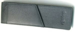 Rotring Leather Pen Case, Mint, Black, For 2 Pens, With A Magnetic Lock, Germany