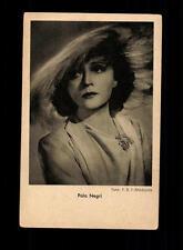 Pola Negri Programm von heute Verlag Postkarte ## BC 97832