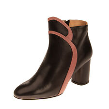 RRP€695 RACINE CARREE Leather Ankle Boots EU 37 UK 4 US 7 Two Tone Made in Italy