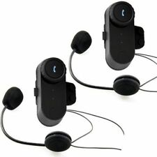 2x800m Interphone BT Bluetooth Motorbike Motorcycle Helmet Intercom FM Headset