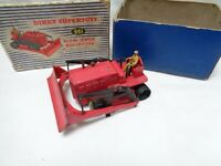 Vintage Diecast Meccano Dinky supertoys  961 Blaw Knox Bulldozer Red - Boxed