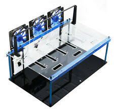 Solid Durable PMMA Open Air Mining Case Computer Frame Rig Gift Fan X 3 & Switch