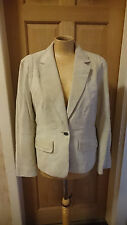 Women's Stunning Betty Barclay Suede Leather Jacket Size 12 H1