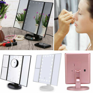 rose 22 LED Touch Screen Makeup Mirror Tabletop Cosmetic Vanity Light up Mirror