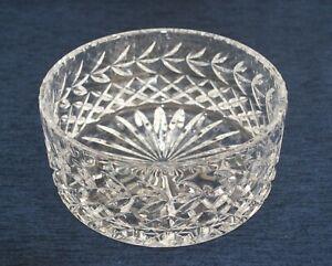 Vintage Large Lead Crystal Fruit Bowl Very Heavy Excellent Condition 21cm Ø