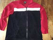 Ralph Lauren Mens Medium M fleece zip jackets black red white LRL Exc Condition