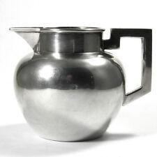 Art Deco Silber Milchkännchen 800 Silber Sahnegießer im Bauhaus Stil um 1930
