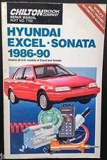 1986 1987 1988 1989 1990 HYUNDAI EXCEL, HYUNDAI SONATA REPAIR MANUAL by CHILTON