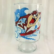 Rare! 1995 Tazmanian Devil TAZ Glass Looney Tunes Warner Bros Collectible