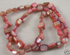 Square Shell Pearl Beads Pink